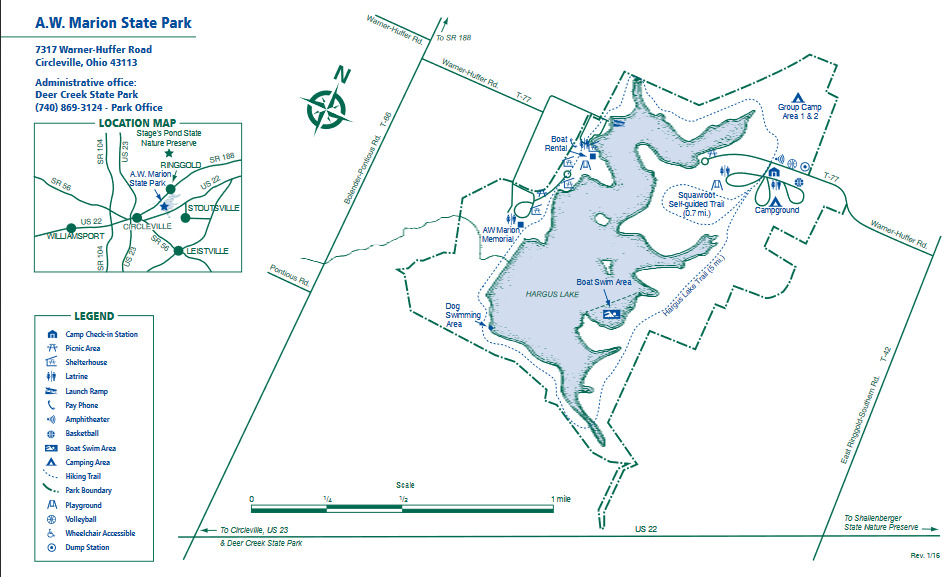 A  W  Marion State Park Trails - Birding in Ohio